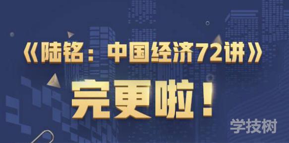 经学名师陆铭中国经济 72讲