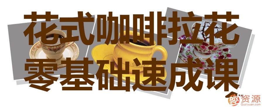 0基础学花式咖啡拉花速成课_资源网站