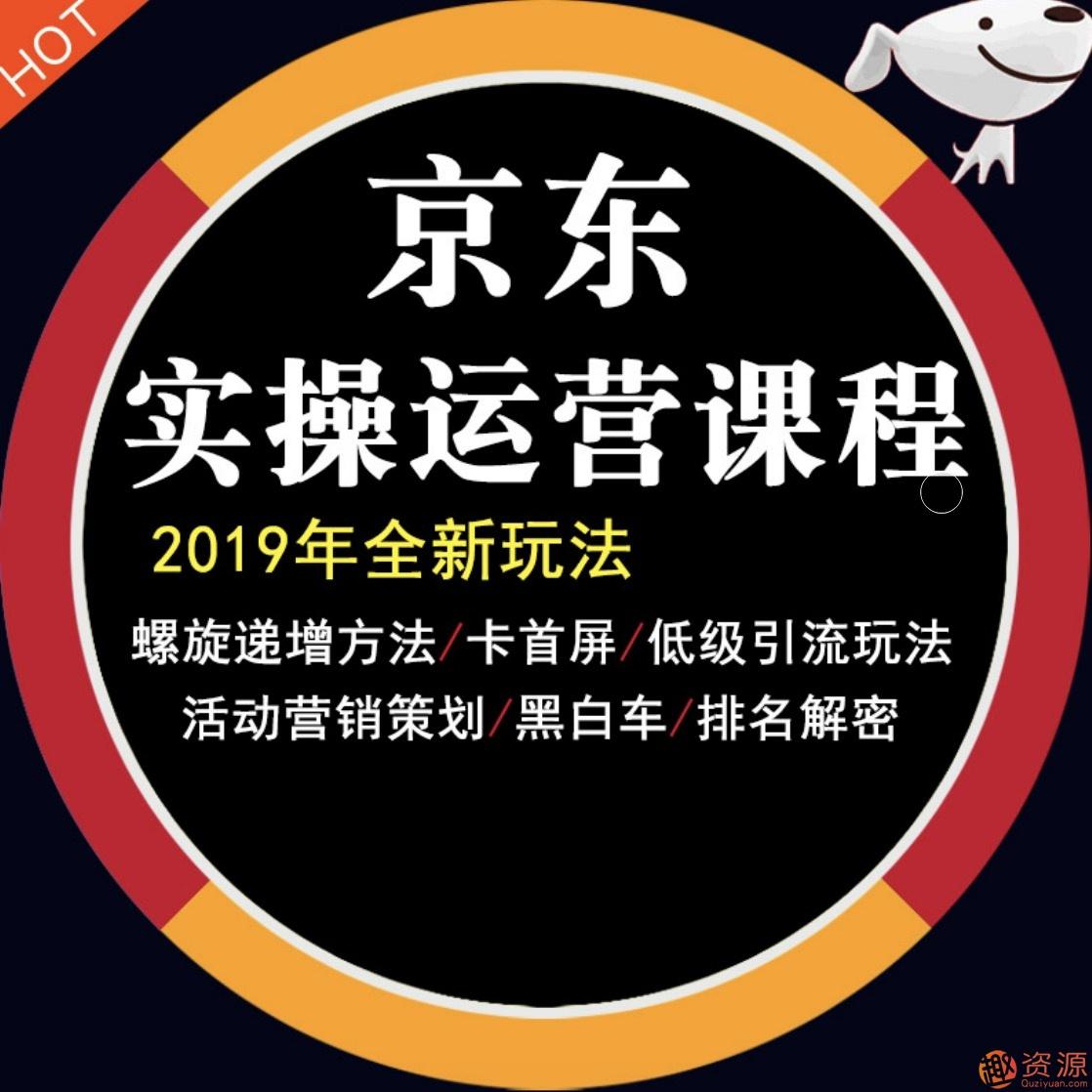 2019京东平台店铺运营教程快车营销技巧高级开店全套电商视频教学