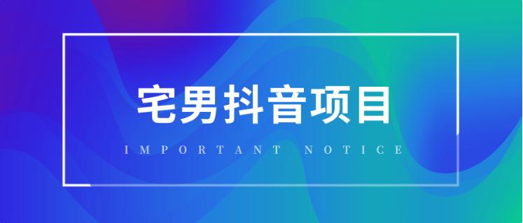 宅男抖音项目玩法实战班1 百度网盘