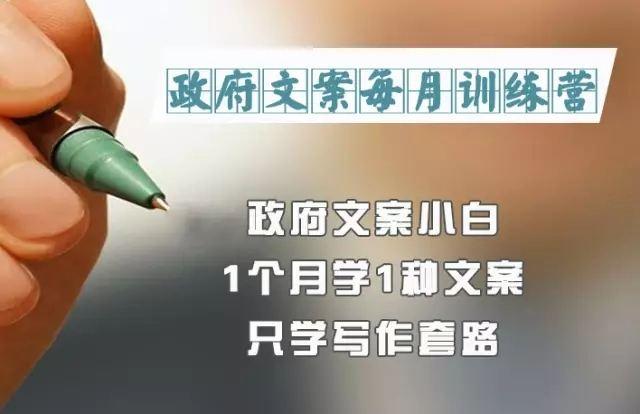 【综合教程】 政府文案训练营
