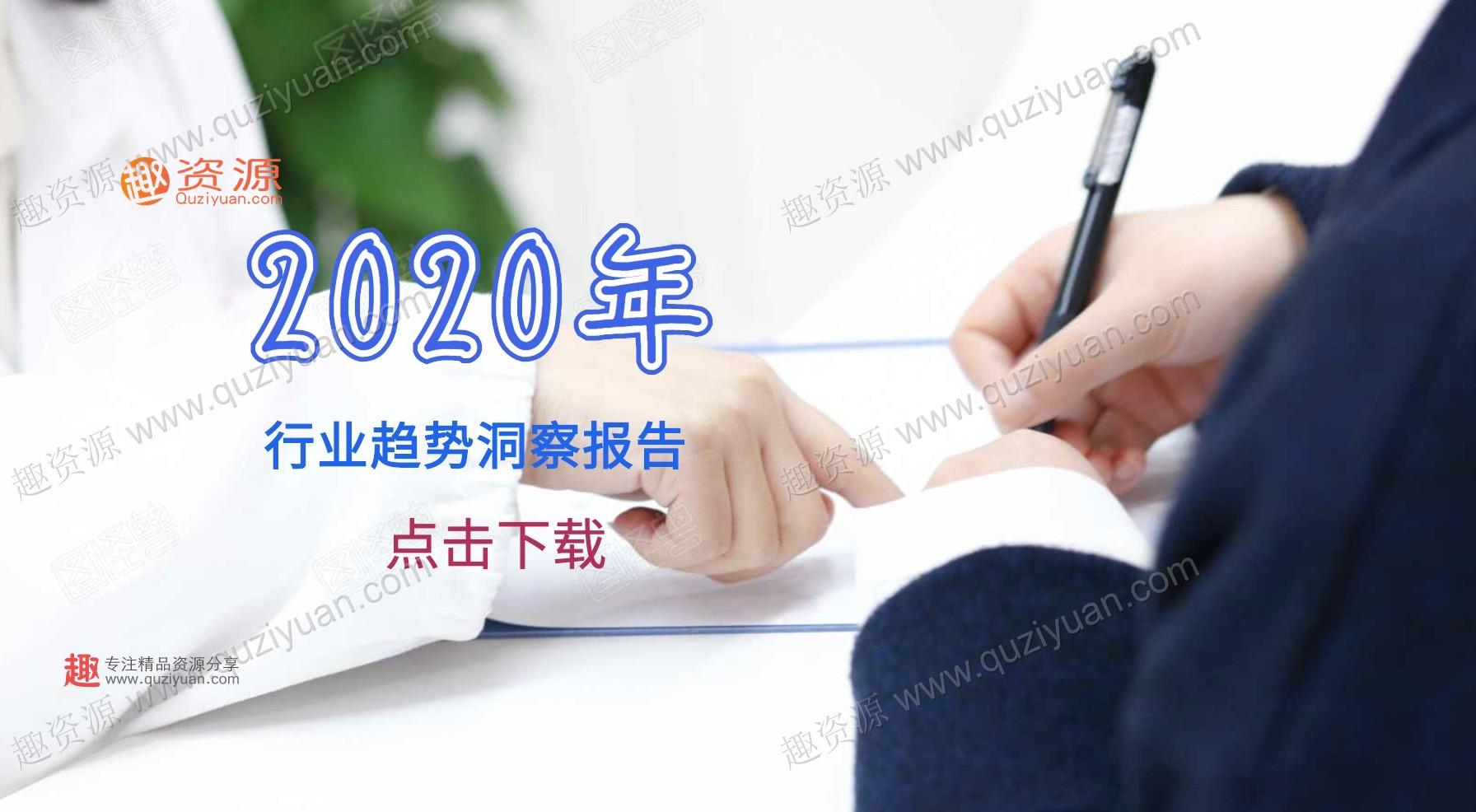 2020年行业趋势洞察报告麦肯锡普华永道达摩院 百度网盘