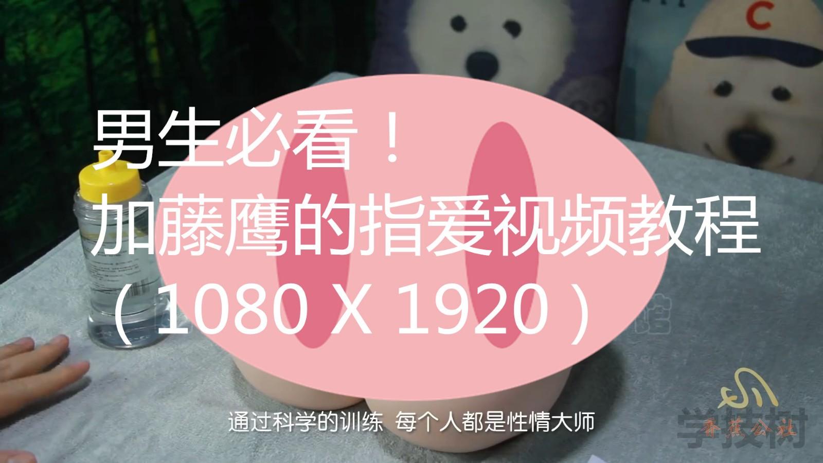 男生必看!加藤鹰的指爱视频教程 ( 1080 X 1920 )