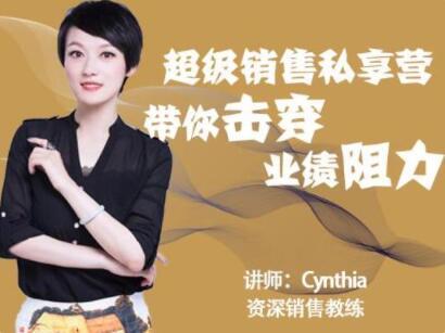 有料识堂Cynthia《超级销售私享营》带你击穿业绩阻力,提升销售业绩_百度云网盘视频资源