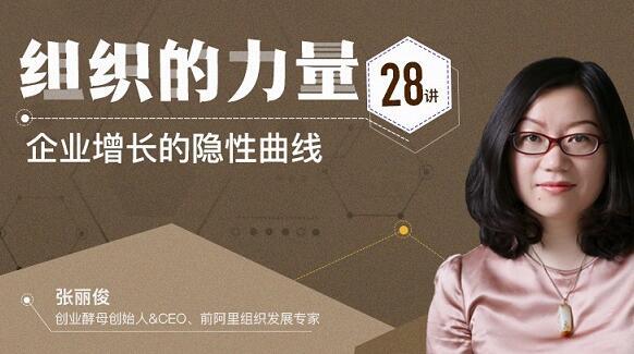 张丽俊《组织的力量28讲》企业增长的隐性曲线_百度云网盘教程资源